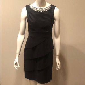 Dressbarn Collection Black Dress w/ Beaded Neck: 4